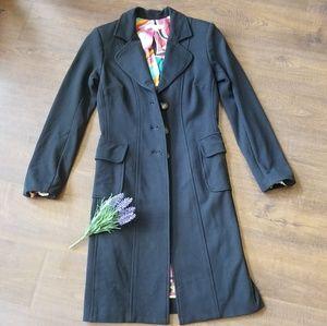 Cache BLACK Jeresy Jacket 100% Silk Lined Small